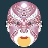 Mask,Facial Makeup,Chinese Opera Characters Jiangshang