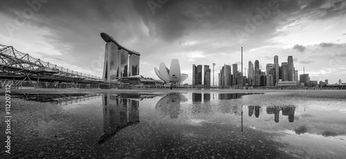Foto op Aluminium New York Skyline of Singapore a beautiful sunset