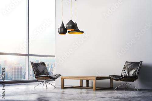 3d render of beautiful modern interior room © DigitalGenetics