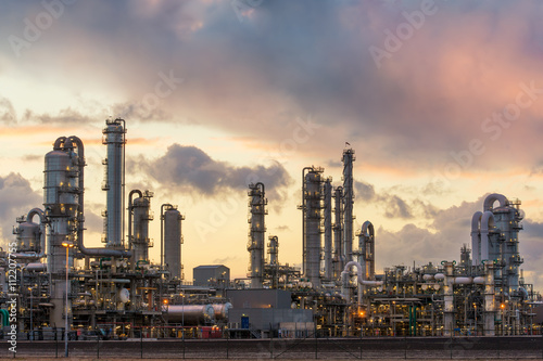 Oil refinery at the harbor in Rotterdam, Netherlands