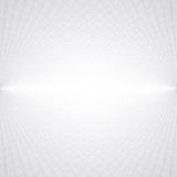 Abstract perspective background with white & grey tones - 112214793