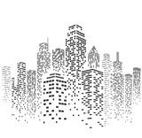 Fototapety Vector Urban Cityscape Silhouette Illustration