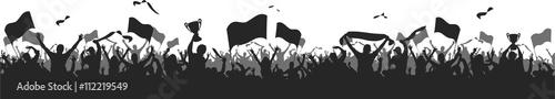 Soccer Fans black silhouette