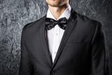 Man wearing bow tie