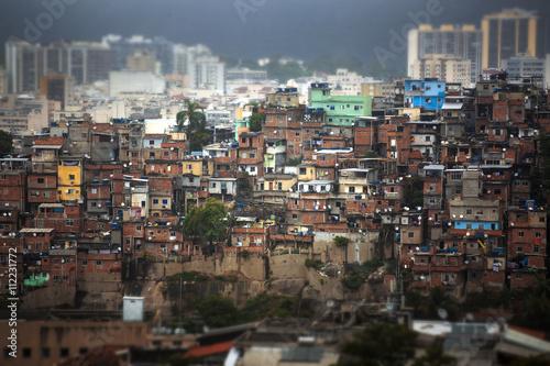 Rio de Janeiro downtown and favela. Poster