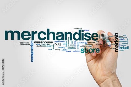 Merchandise word cloud concept