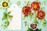 Cute flowers made of fresh organic vegetables