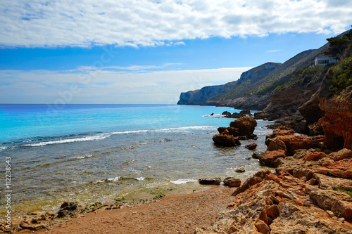 Denia Las rotas beach near Sant Antonio cape Plakat