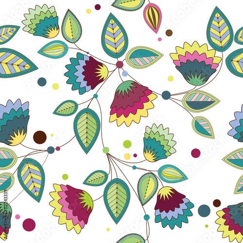 Fototapeta pattern of colorful flowers