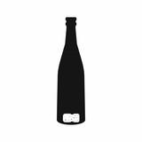 Empty wine bottle icon, simple style
