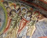 Angeli combattenti; particolare affresco dell