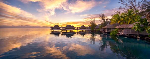 Fototapeta zachód słońca Malediwach