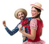 Brazilian couple having fun in the Junina Party