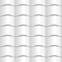 White seamless wavy pattern paper texture