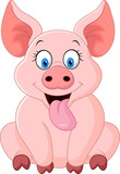 """cartoon happy pig sitting 112002763,glass of beer with raw material for beer production"""""""