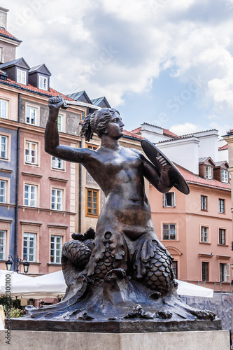 Mermaid (Syrena) - symbol of city of Warsaw, Poland. - 112300100