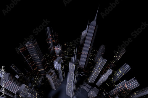Urban City in Motion. Nice 3D Rendering  - 112309375