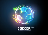 football with sparkling light abstract background - 112320156