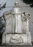 statue of world famous scientist Gregor Johann Mendel