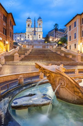Papiers peints Rome Spanish Steps at Trinità dei Monti at dawn, Rome