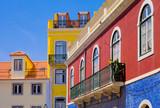 Lisbonne, maisons du quartier du bairro alto - 112323544