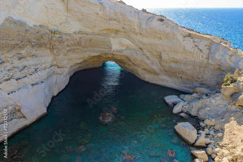 Sykia Cave at Melos Island, Greece