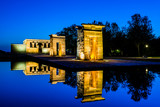 debod temple at blue hour