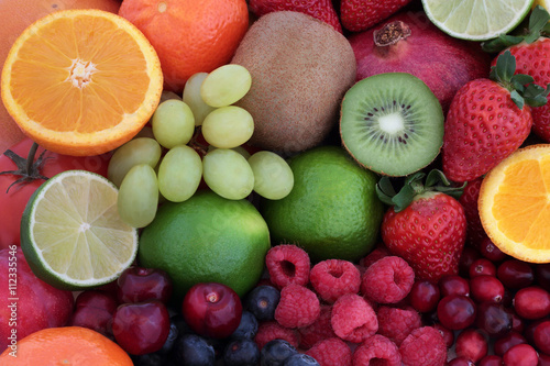 Fototapeta Fresh Fruit Super Food Background
