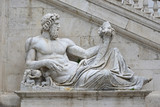 Ancient marble statue of River Tiber god protects Romulus and Remus with his right arm, from Capitoline Hill Square, in the center of Rome 112516549,ツナコーンサラダ,runin,202696509,1,392,0,0,dining room
