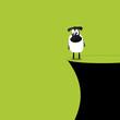 Schaf am Abgrund