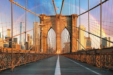 Fototapeta widok z mostu na tęczę