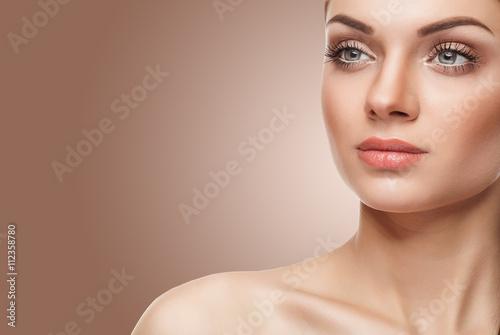 Plakát Natural make up. Young woman with light natural make up