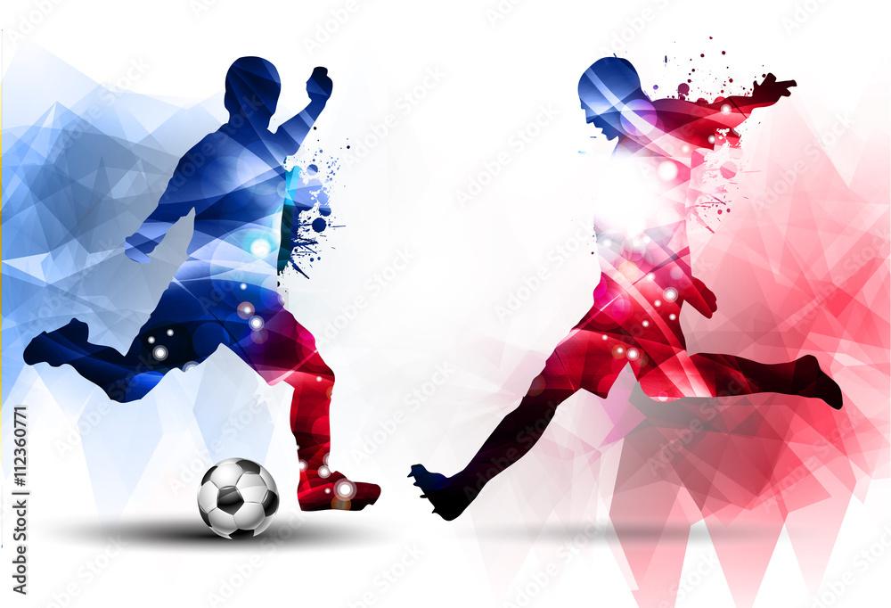 Naklejka 3d Dziura W ścianie Z Cegły Piłka Nożna Konkurencja