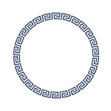 Round decorative frame for design in Greek style - 112369355