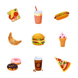 Fast Food Items Set