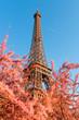 Eiffel Tower in Paris France at evening light