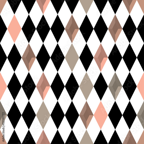 Abstract background. Modern seamless pattern with diamond. Vector illustration