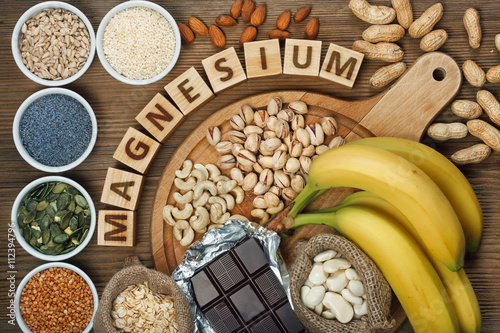 Products containing magnesium Poster
