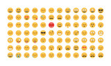 Emoticon vector. Emoji vector. Smile icon set.  Emoticon icon web - stock vector.