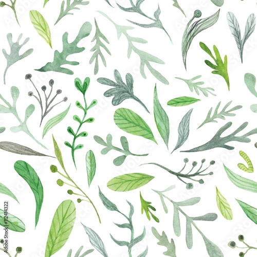 Watercolor Eco Pattern © Kisika