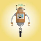 Robot design. Technology concept. humanoid icon