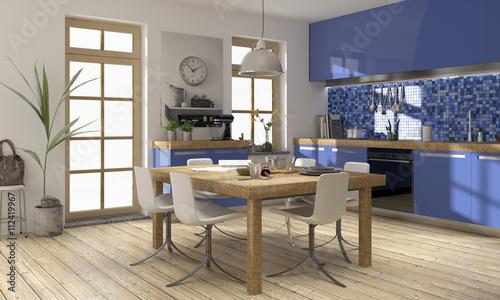 fototapeten k che k chenwinkel blau modern k chenplanung holz edelstahl nikkel art. Black Bedroom Furniture Sets. Home Design Ideas