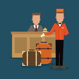 Hotel design. Service icon. Flat illustration , vector