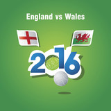 Euro 2016 England vs Wales vector background