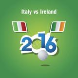 Euro 2016 Italy vs Ireland vector background