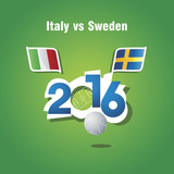 Euro 2016 Italy vs Sweden vector background