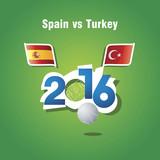 Euro 2016 Spain vs Turkey vector background