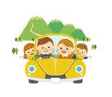 ドライブをする家族 その6