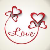 Фон сердечки надпись любовь, день святого валентина открытка