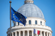 European flag on Paris pantheon capitol